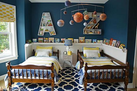 Habitación niños azul