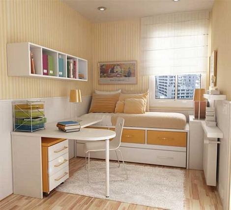 Habitación juvenil pequeña