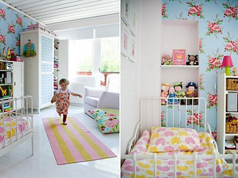 Habitación de niña azul