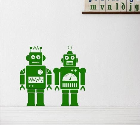 Vinilo robots