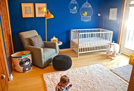 Azul y amarillo bebé