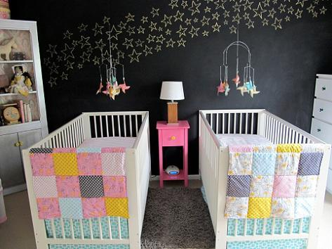Habitación para dos bebés