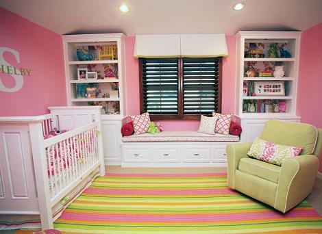 Habitación para niña rosa