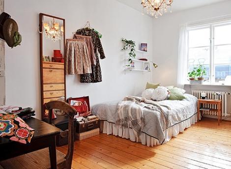 Dormitorio blanco madera