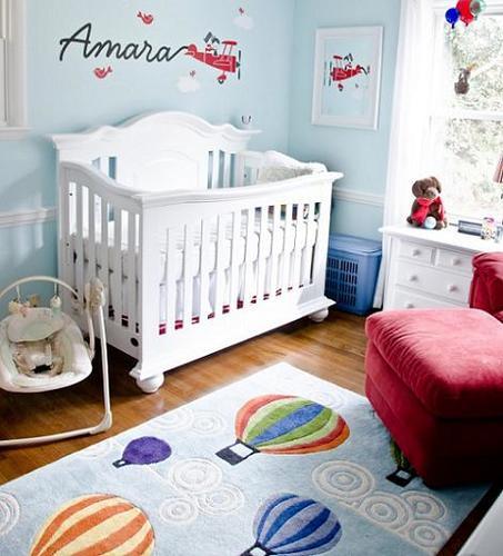 Habitación de bebé de viajes