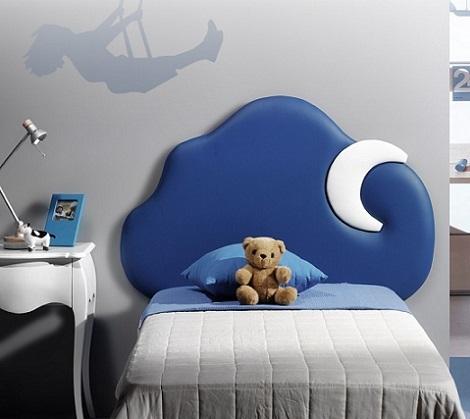 cabeceros originales camas infantiles nube