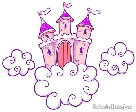 vinilos princesas niñas castillo