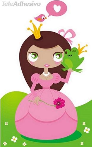 vinilos princesas niñas muñeca