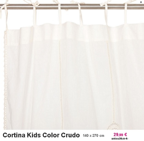 rebajas zara home kids crudo