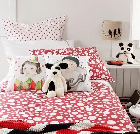 nordico rojo círculos de Zara niños invierno 2014