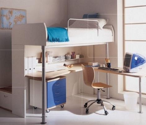 habitaciones infantiles pequeñas blanco