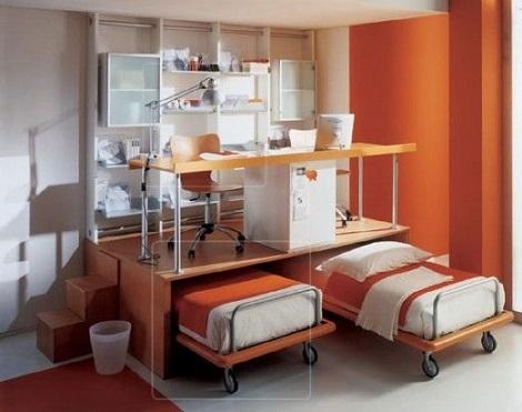 habitaciones infantiles pequeñas literas
