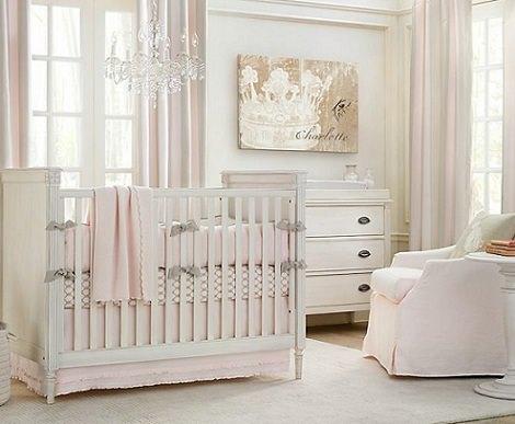 habitaciones de estilo rústico bebé niña