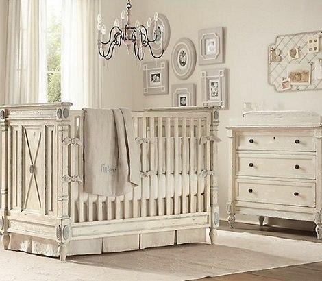 habitación rústica bebé