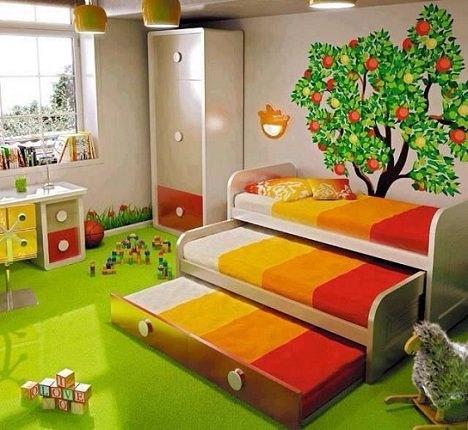 habitación de colores infantil