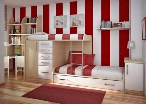 habitaciones infantiles con papel